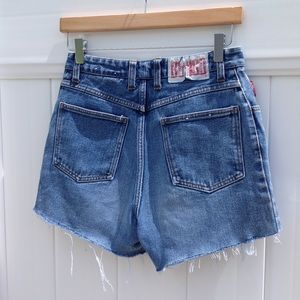 Vintage BONGO Hi Rise Distressed Cut Off Shorts 27